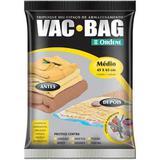 (INATIVO) Saco para armazenamento a vacou Vac bag médio Cód. 7726 - Ordene s/a