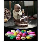 Incensário Queimador Cerâmica Refluxo Fumaça Monge Buda - Distribuído frc magazine