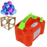 Inflador de Bexiga e Balão Mazzilli 2 Bicos Medidor MDF 110v Vermelho