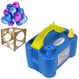 Inflador de Bexiga e Balão Mazzilli 2 Bicos Medidor MDF 220v Azul