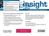 Insight - Pre-Intermediate - Online Workbook Plus Card With Access Code - Oxford