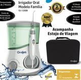 Irrigador Oral Oraljet  com Estojo de Viagem Familia Ultra Water Flosser OJ-1200B Bivolt (100-240 Volts)