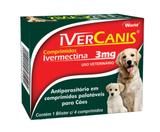 Ivercanis 3mg 4 comp World Ivermectina Cães - World veterinária