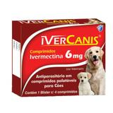 Ivercanis 6mg 4 comp World Ivermectina Cães - World veterinária