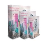 Jogo 3 Caixas Canvas Woman City - Prestige