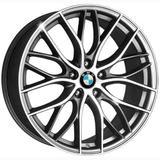 Jogo 4 rodas KR R-54 BMW 335i Bitu aro 18 5x114,3 grafite e diamante tala 7 ET 40