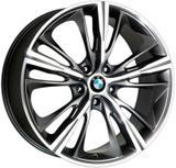 Jogo 4 rodas KR R-55 BMW 4 Series aro 18 5X112 grafite e diamante tala 7 ET 40