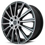 Jogo 4 rodas KR R-66 Mercedez C63 AM aro 18 4X108 grafite e diamante tala 7 ET 40