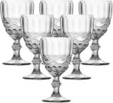 Jogo 6 taças para água em vidro libélula transparente 260ml - lyor
