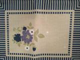 Jogo Americano 30cm x 40cm Flor Azul - Raner