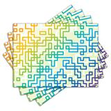 Jogo Americano - Abstrato com 4 peças - 047Jo - Allodi