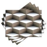 Jogo Americano - Abstrato com 4 peças - 820Jo - Allodi