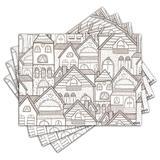 Jogo Americano - Arquitetura com 4 peças - 1114Jo - Allodi