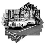 Jogo Americano - Carros Clássicos com 4 peças - 001Jo - Allodi