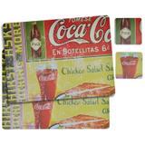 Jogo Americano Coca-Cola En Botellitas - 4 peças - Yaay