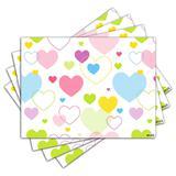 Jogo Americano - Corações com 4 peças - 1115Jo - Allodi