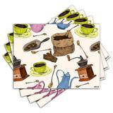 Jogo Americano - Cozinha com 4 peças - 610Jo - Allodi