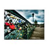 Jogo americano decorativo, criativo e descolado  Cadeados na ponte do rio Sena em Paris na França - tamanho 30 x 40 cm - Colours  creative photo decor