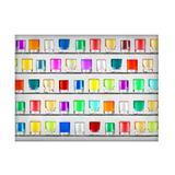 Jogo americano decorativo, criativo e descolado  Copos coloridos - tamanho 30 x 40 cm - Colours  creative photo decor