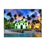 Jogo americano decorativo, criativo e descolado  Praia dos Carneiros - tamanho 30 x 40 cm - Colours  creative photo decor