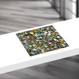 Jogo americano diferente, criativo, moderno  TAMPINHAS COLORIDAS - tamanho 30 x 40 cm - Colours  creative photo decor