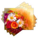 Jogo Americano - Flores com 4 peças - 857Jo - Allodi