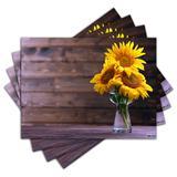 Jogo Americano - Flores com 4 peças - 862Jo - Allodi