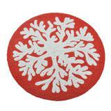 Jogo Americano Individual Vermelho e Branco 38cm - Decorafast