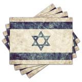 Jogo Americano - Israel com 4 peças - 489Jo - Allodi
