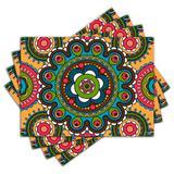 Jogo Americano - Mandala com 4 peças - 676Jo - Allodi