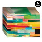 Jogo Americano Mdecore Abstrato 40x28cm Colorido