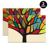 Jogo Americano Mdecore Árvore 40x28cm Colorido