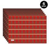 Jogo Americano Mdecore Natal Arvore de Natal 40x28 cm Vermelho