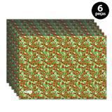 Jogo Americano Mdecore Natal Boneco de Neve 40x28 cm Verde