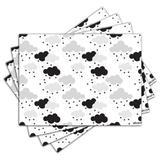 Jogo Americano - Nuvens com 4 peças - 1126Jo - Allodi