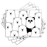 Jogo Americano - Panda com 4 peças - 1111Jo - Allodi