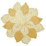 Jogo Americano PVC Flor 47cm Dourado 6 peças - Yazi