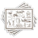 Jogo Americano - Tequila com 4 peças - 1146Jo - Allodi