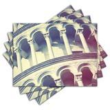 Jogo Americano - Torre de Pisa com 4 peças - 368Jo - Allodi