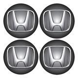 Jogo BOTTOM/ Emblema para Calota Honda 48MM Degrade 4 Pecas Resinado - Marcon - adesivos
