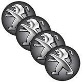 Jogo BOTTOM/ Emblema para Calota Peugeot 48MM Degrade 4 Pecas Resinado - Marcon - adesivos