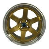 Jogo c/4 rodas aro 15x7,5 krmai k57 4x100 offset 32 dd (dourado diamond)