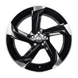 Jogo c/4 rodas aro 17x7,0 krmai k60 5x112 offset 38 bd (black diamond)