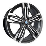 Jogo c/4 rodas aro 17x7,0 krmai r56 5x120 offset 40 gd (graphite diamond) bmw m6