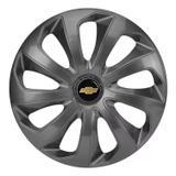 Jogo Calota Aro 13 Graphite Gm Celta Corsa Classic Velox - Elitte