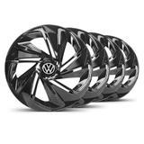 Jogo Calota Nitro Aro 14 Preta VW Gol G5 - Elitte
