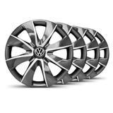 Jogo Calota Prime Grafite Prata Aro 14 VW Gol G5 - Elitte