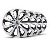 Jogo Calota Velox Aro 14 Prata / Preta VW Gol G4 - Elitte