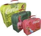 Jogo com 3 Maletas Coca Cola Pin UP - Coca-cola