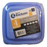 Jogo de 4 potes de plástico para microondas e freezer - Roschito